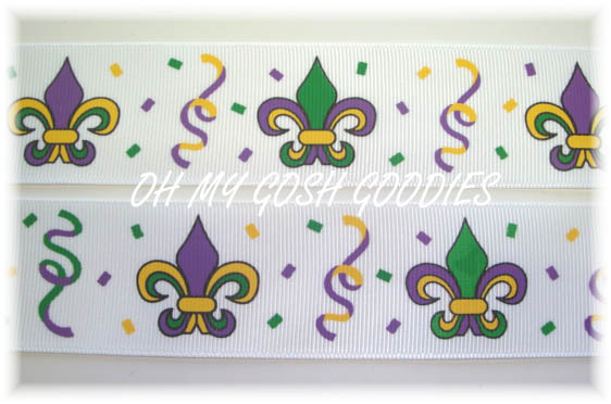 1.5 OOAK SALE MARDI GRAS MAGIC FLEUR DE LIS - 4 YARDS