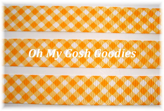 5/8 SUNSET GOLD GINGHAM CHECK - 5 YARDS
