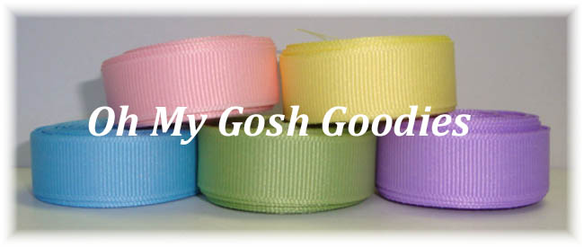 5/8 SOLID GROSGRAIN RIBBON MIX R1 - 25 YARDS