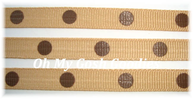 3/8 OOAK TAN BROWN HOT DOTS - 30+ YARDS