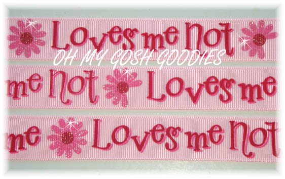 7/8 LOVES ME NOT PINK - 5 YARDS