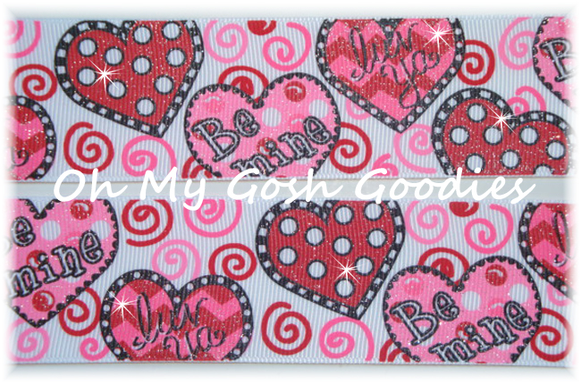 1.5 OOAK BE MINE HEARTS & SWIRLS - 5+ YARDS