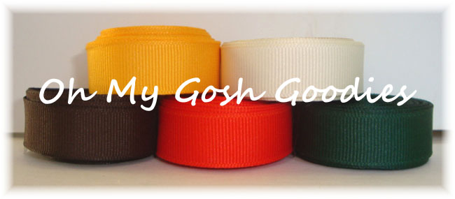 5/8 SOLID GROSGRAIN RIBBON MIX R22 - 25 YARDS