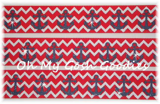 7/8 RED CHEVRON ANCHORS - 5 YARDS