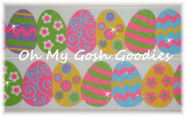 1.5 GLITTER EASTER EGG PARADE - 5 YARDS