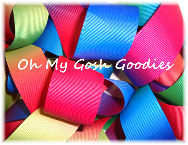 1.5 PRIMARY OMBRE VARIEGATED REVERSIBLE RIBBON - 5 YARDS