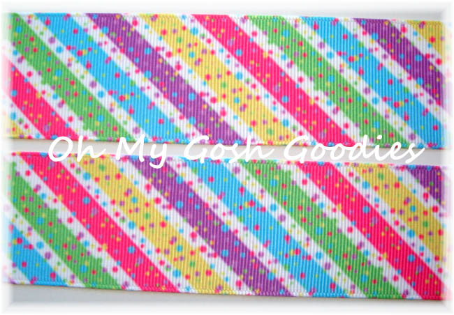 1.5 OOAK CANDYLAND DIAGONAL STRIPE - 4 YARDS