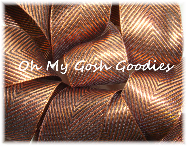 1.5 COPPER BLING WIRED RIBBON - 5 YARDS