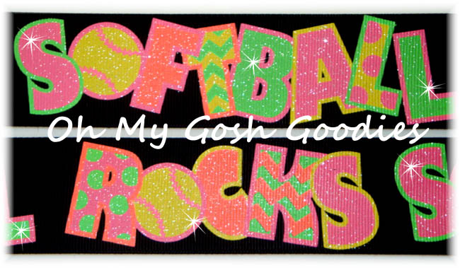 1.5 NEON SOFTBALL ROCKS GLITTER BLACK - 5 YARDS