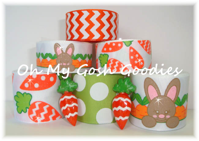 CHEVRON GLITTER CARROTS RIBBON MIX