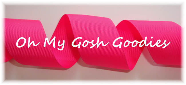 "3"" - 2 1/4"" - 1.5""- 3/8""  SOLID CHEER RIBBON SHOCKING PINK  - 5 YARDS"