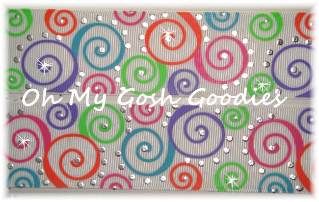 1.5 EASTER SILVER BLING SWIRLS WHITE - 5 YARDS