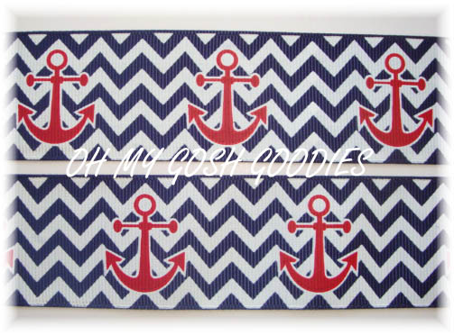 1.5 NAVY CHEVRON ANCHORS - 5 YARDS