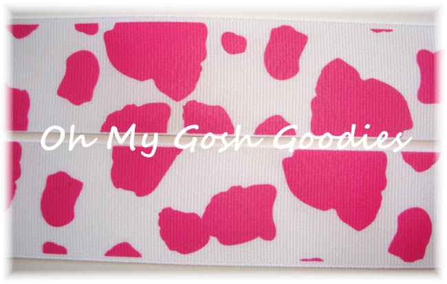 1.5 OOAK HOT PINK GIRAFFE SPOTS - 7+ YARDS
