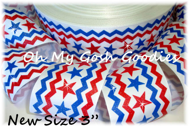 "3"" GLITTER CHEVRON STARS - 5 YARDS"