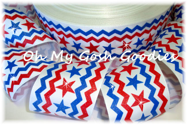 2 1/4 GLITTER CHEVRON STARS - 5 YARDS