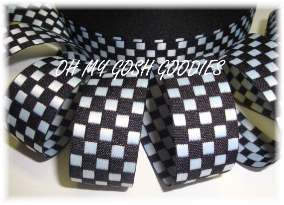 7/8 BLACK/WHITE REVERSIBLE JACQUARD - 5 YARDS