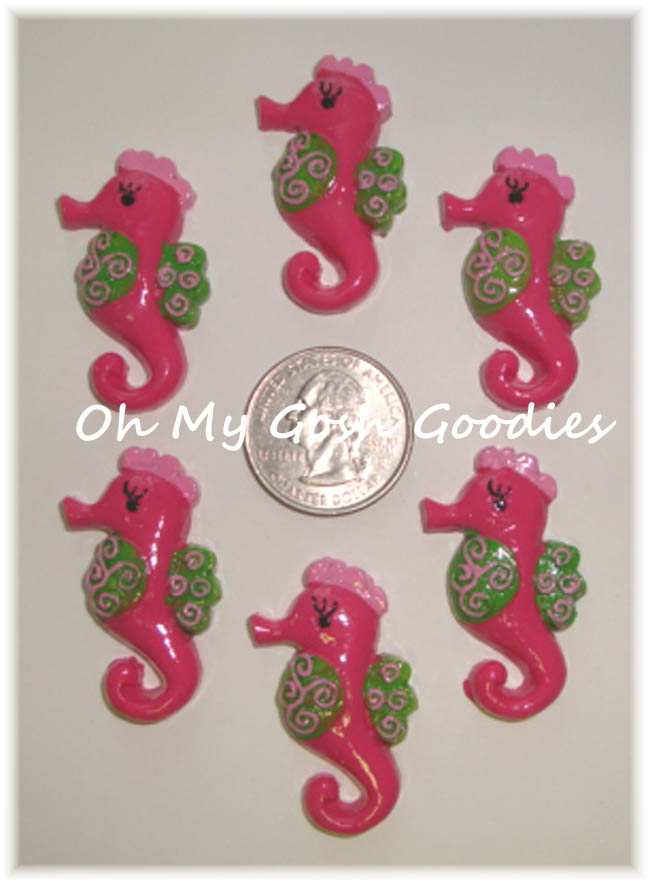 2PC SILLY SEAHORSE RESINS