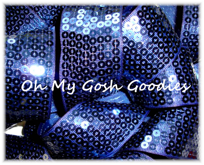 2 1/4 OOAK SHINY SEQUIN NAVY - 3 3/4 YARDS