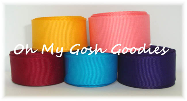 7/8 SOLID GROSGRAIN RIBBON MIX R30 - 25 YARDS
