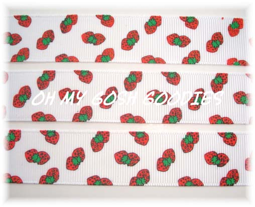 7/8 DOUBLE STRAWBERRY - 5 YARDS