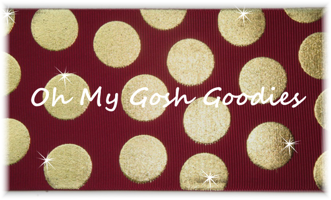 3 OOAK METALLIC GOLD CHEER DOTS MAROON - 2 1/2 YARDS