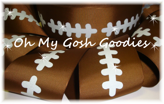 "3"" GLITTER STITCH FOOTBALL - 5 YARDS"