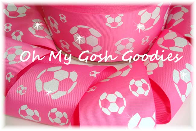 "3"" OOAK GLITTER SOCCER HOT PINK - 4 YARDS"