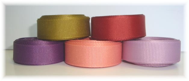 5/8 SOLID GROSGRAIN RIBBON MIX R8 - 25 YARDS