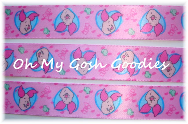 7/8 OOAK WRIGHTS LICENSED RETIRED POOH SATIN RIBBON - 10 YARDS