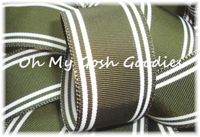 1.5 OOAK FOREST CLASSIC PREPPY STRIPE - 8+ YARDS