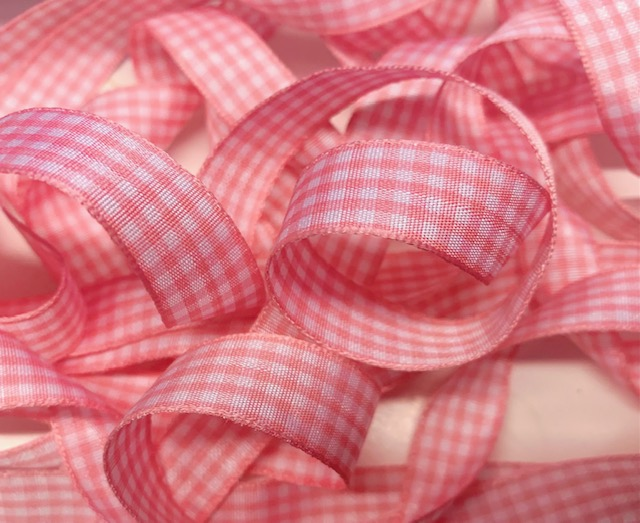 5/8 SALE PINK BITTY GINGHAM CHECK -  5 YARDS