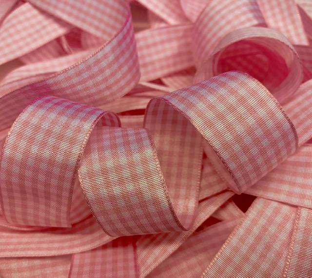 7/8 OOAK EASTER PINK BITTY GINGHAM CHECK - 9 1/2 YARDS