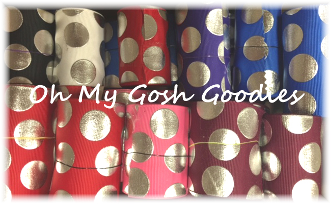 "GOODY BAG 2 1/4"" & 3"" SILVER METALLIC DOTS - 10 YARDS"