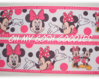 1.5 * PINK * MARVELOUS MINNIE  - 5 YARDS