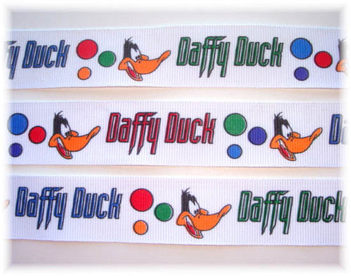 7/8 LICENSED DAFFY DUCK LOONEY TUNES - 5 YARDS