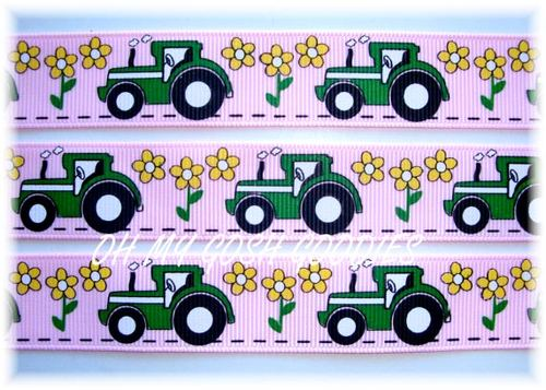 7/8 BIG GREEN TRACTOR - GIRL PINK -  5 Yards