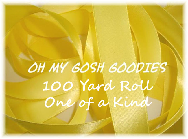 7/8 OFFRAY YELLOW DOUBLE FACE SATIN - 5 YARDS