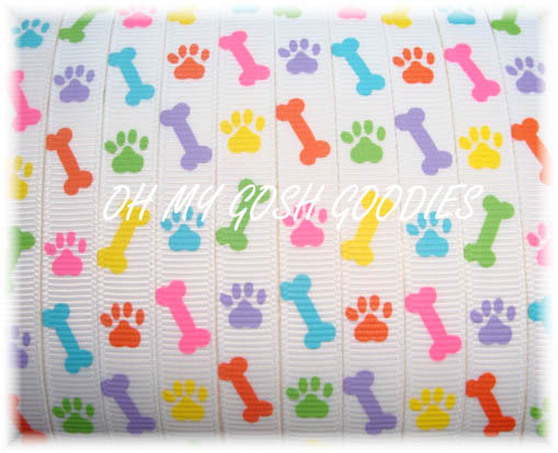 3/8 PUPPY DOG BONES WHITE - 5 YARDS