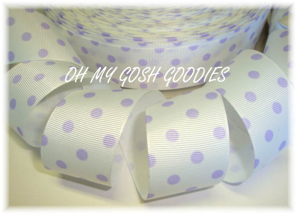 1.5 SALE WHITE ORCHID EASTER POLKA DOTS - 5 YARDS