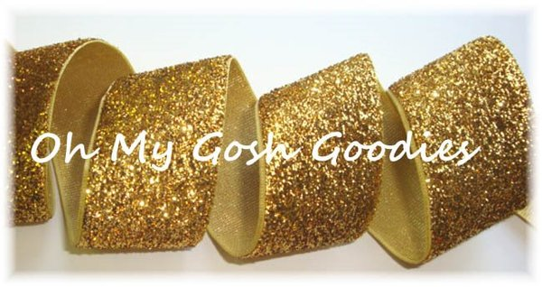 7/8 OOAK DR23 GOLD METALLIC GLITTER  - 3 1/2 YARDS