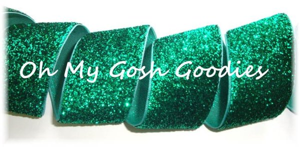 1.5 OOAK GREEN METALLIC GLITTER  - 3 1/4 YARDS