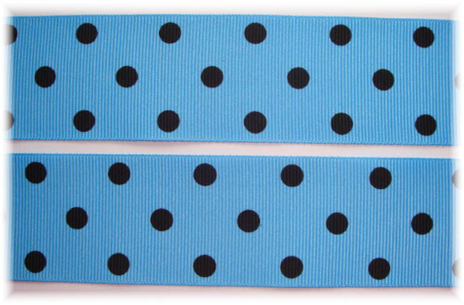 1.5 SALE COPEN TITAN BLUE BLACK POLKA DOTS - 5 YARDS