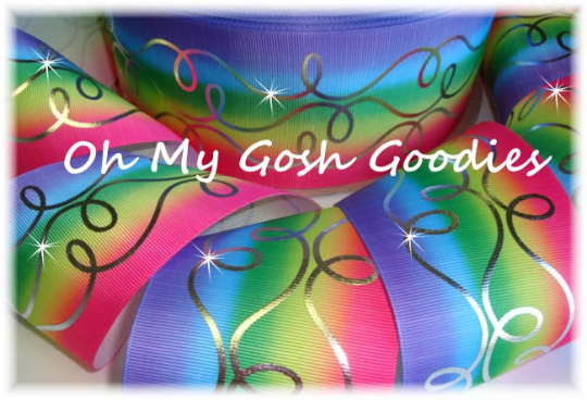 "3"" OOAK FANCY SWIRLS RAINBOW - 1 1/2 YARDS"