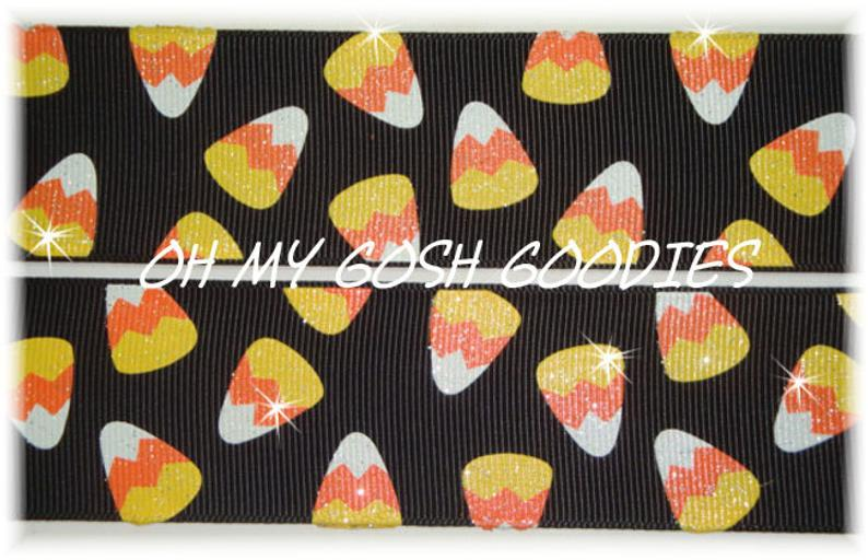 1.5 OOAK CANDY CORN GLITTER BLACK - 2 1/4 YARDS
