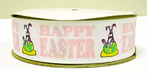 1.5 OOAK HAPPY EASTER BUNNY - 5 YARDS