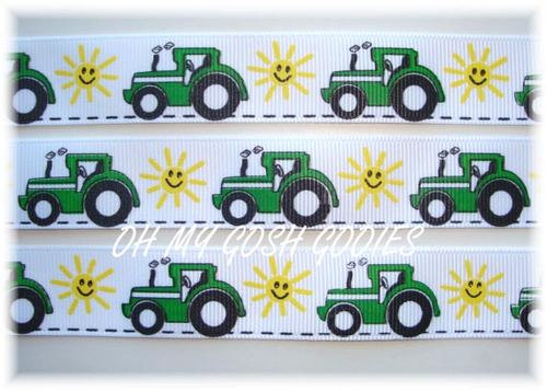 7/8 BIG GREEN TRACTOR - 5 Yards