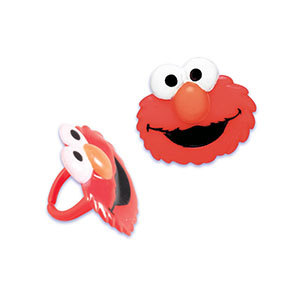 12PC LICENSED ELMO CUPCAKE RINGS FOR HAIRBOWS
