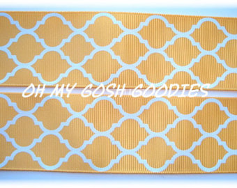 2 1/4 OOAK YELLOW QUATREFOIL - 3 1/2 YARDS