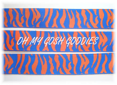 7/8 ROYAL ORANGE ZEBRA - 5 YARDS